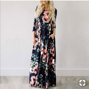 Navy floral maxi SELLS OUT FAST